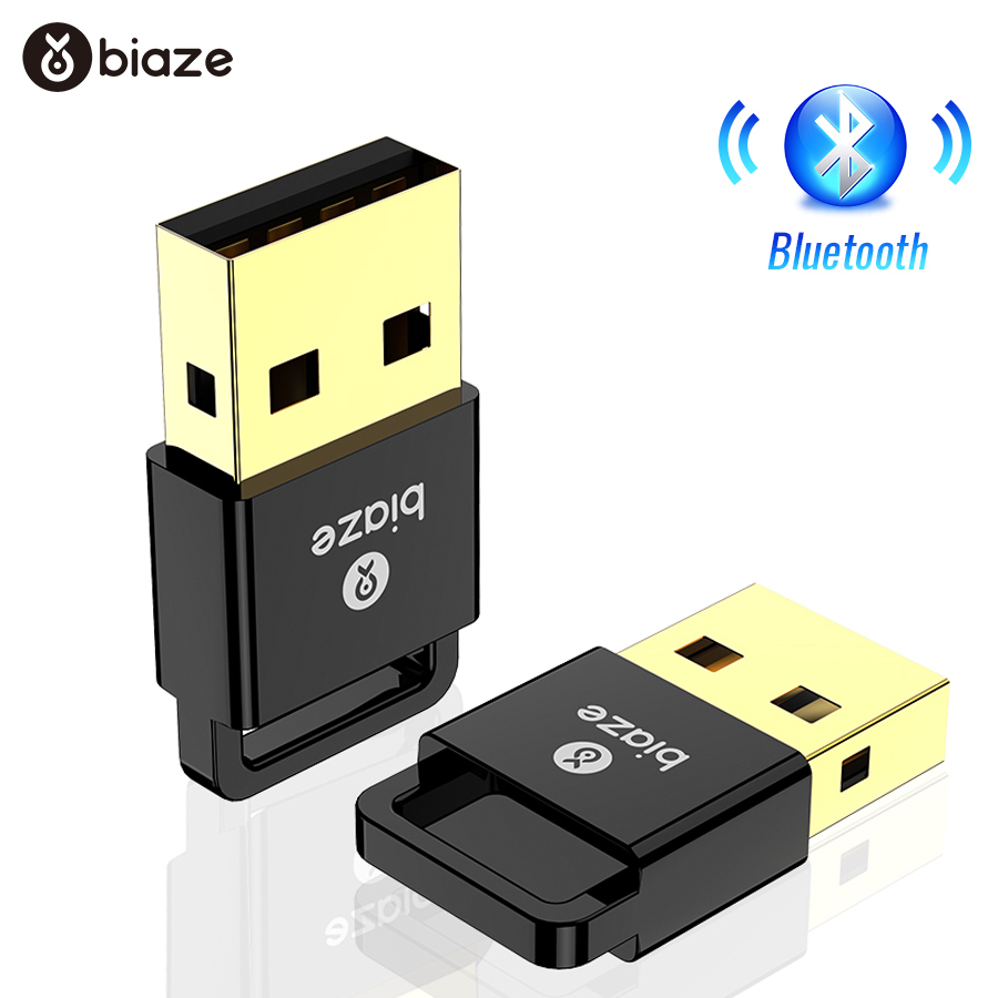 Biaze Bluetooth Adapter USB Dongle Laptop PC Wireless Mouse Bluetooth Speaker 4.0 Music Receiver USB Bluetooth Adapter V4.0 CSR