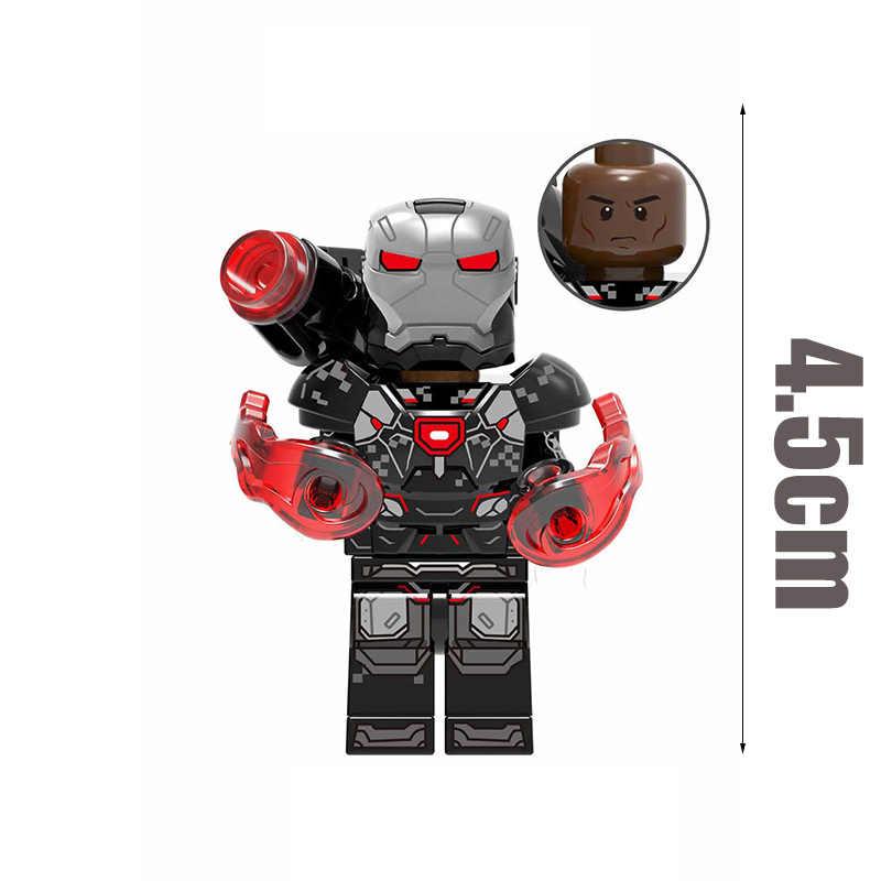 Single-selling Supereroe Avengers Spider-Man Falcon Macchina da Guerra di Bellezza Squadra Iron Man Building Blocks Giocattoli Per Bambini regali JM146