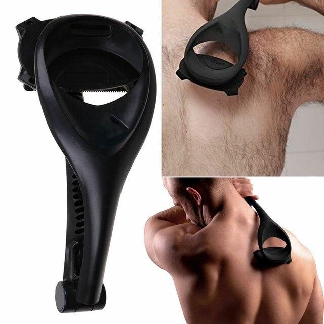 Back Shaving Hair Shaver Trimmer Men Two Head Blade Long Handle Removal Razors Foldable Body Leg Razor