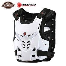 SCOYCO motosiklet zırh yelek motosiklet koruma motosiklet göğüs geri koruyucu zırh Motocross yarış yelek koruyucu donanım
