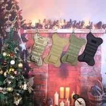 Рождественская сумка для чулок в форме кости для собак, домашних животных с Молле, лямками и патчем, Рождественское украшение для дома, для охоты на открытом воздухе, Новинка