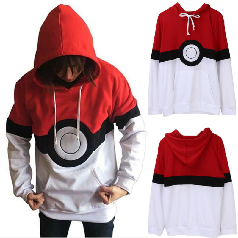 Autumn Men Women Long Sleeve Hoodies Pokemon Costume Hoodie Sweatshirt Top Casual Fashion Outwear Clothes\