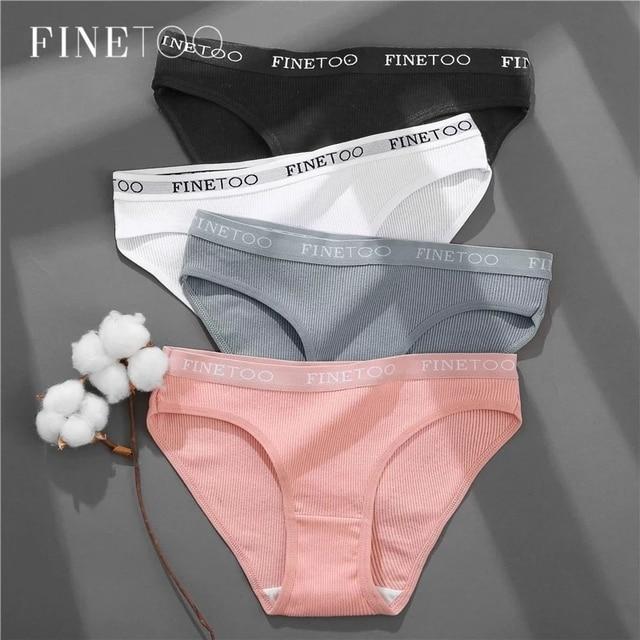 Set of 3 Pairs of Everyday Cotton Bikini Panties 1