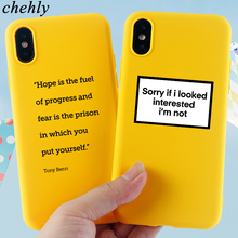 Phone Case for iPhone6s 7 8 11 Plus Pro X XS Max XR Funny Words Cases Soft Silicone Fitted