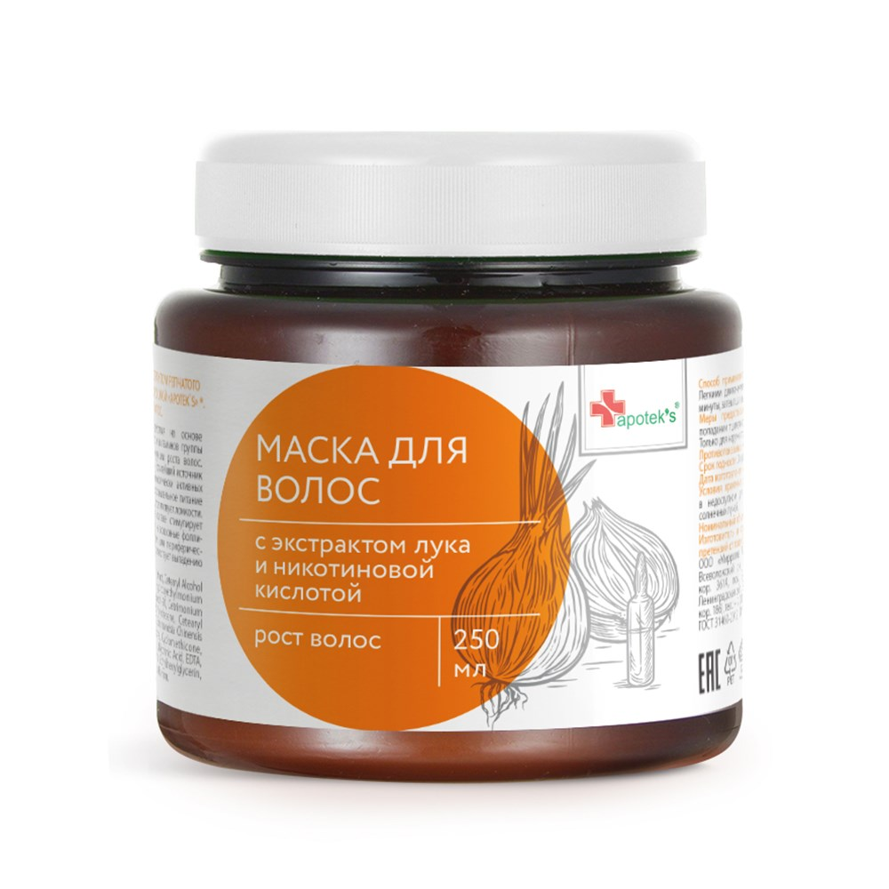 Hair Mask With Extract Of Bow And никотиновой Acid, 250 Ml