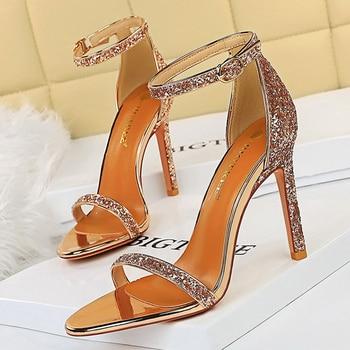 10cm High Heels Bling Glitter Stiletto Pumps 1