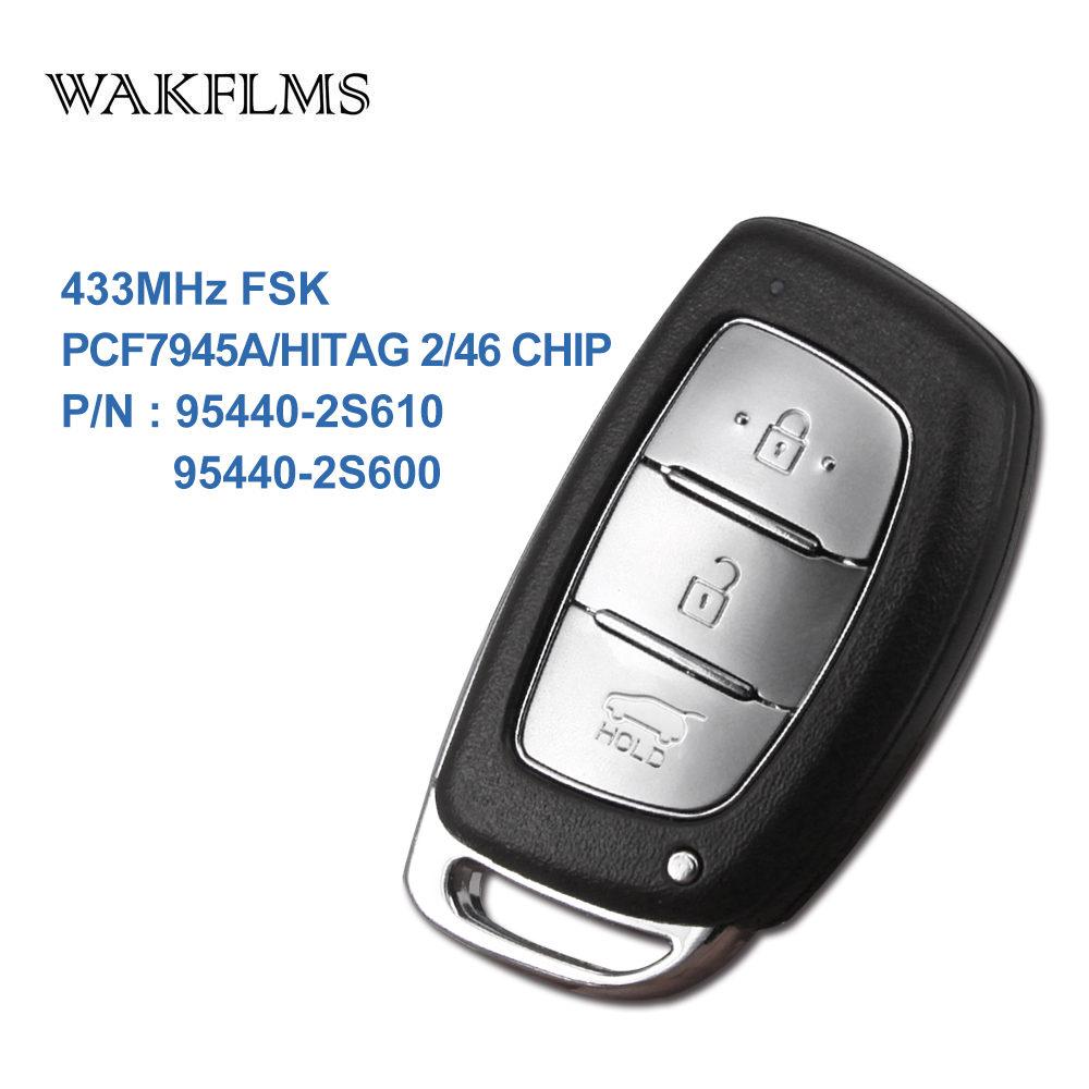 3 btns Remote Smart Car key 315Mhz For IX35 with PCF7945A HITAG 2 46 CHIP 95440-2S610 95440-2S600 (2)