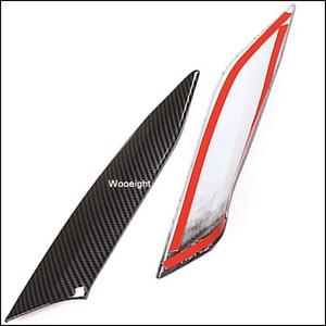 Image 3 - Wooeight 2Pcs Carbon Fiber Car Interior Central Control Side Sticker Decoration Trim Fit For BMW 3 Series 2020