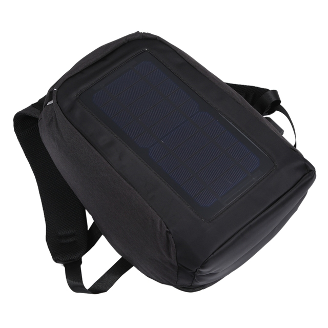Solar Backpack Anti-Theft Business Bag Travel Backpack Casual Rucksack with Solar Panel Charge for Smart Phone Men Women 5