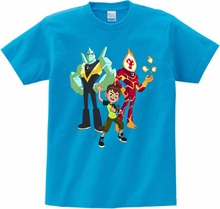 Boys T Shirts Ben 10 Protector of Earth T-Shirts Clothing Cartoon Short Sleeved Shirt Top Tees Children