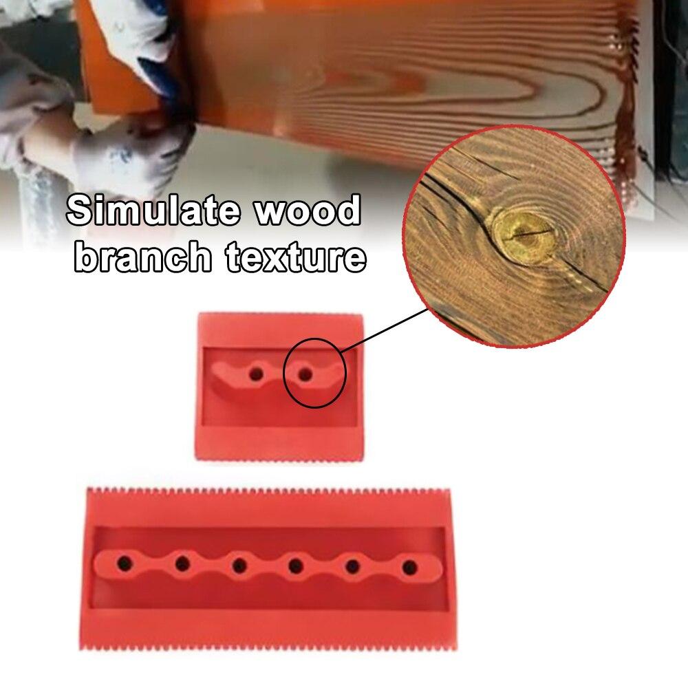 2pcs Imitation Wood Graining Pattern Wall Texture Art DIY Brush Painting Tool Rubber Wood Grain Painting Tool Home Decoration