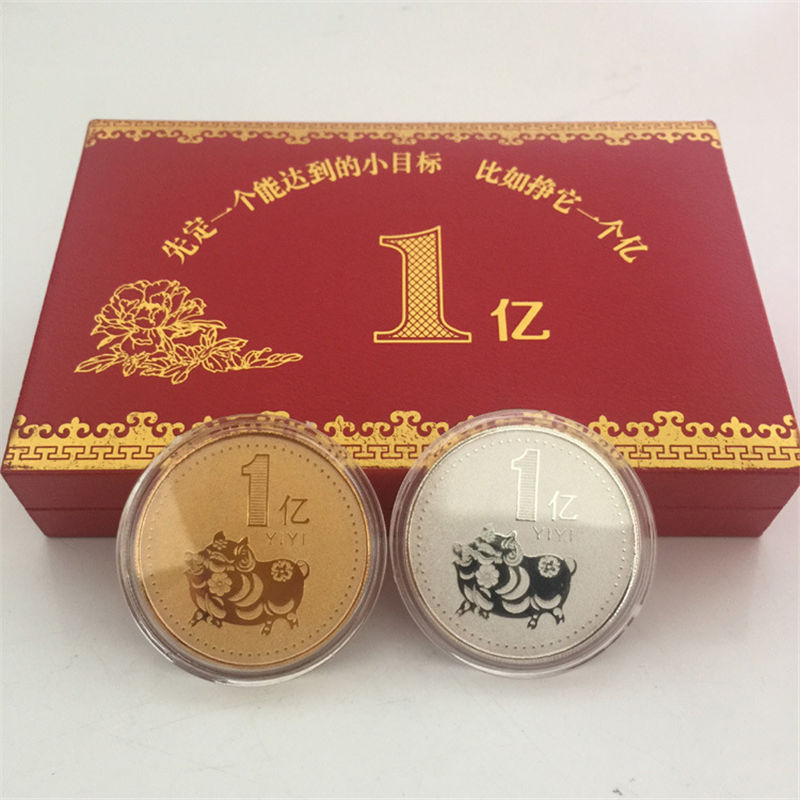 Zodiac CHINA 10 YUAN 2019 ANIMAL COMMEMORATIVE COIN BIMETALLIC UNC NEW Pig