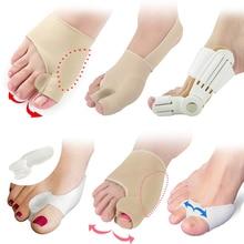 Bunion Corrector Pedicure Foot Care Tools Toe Separator Hallux Valgus Straightener Anti Rubbing Gel Pads Shoes Insoles Stickers