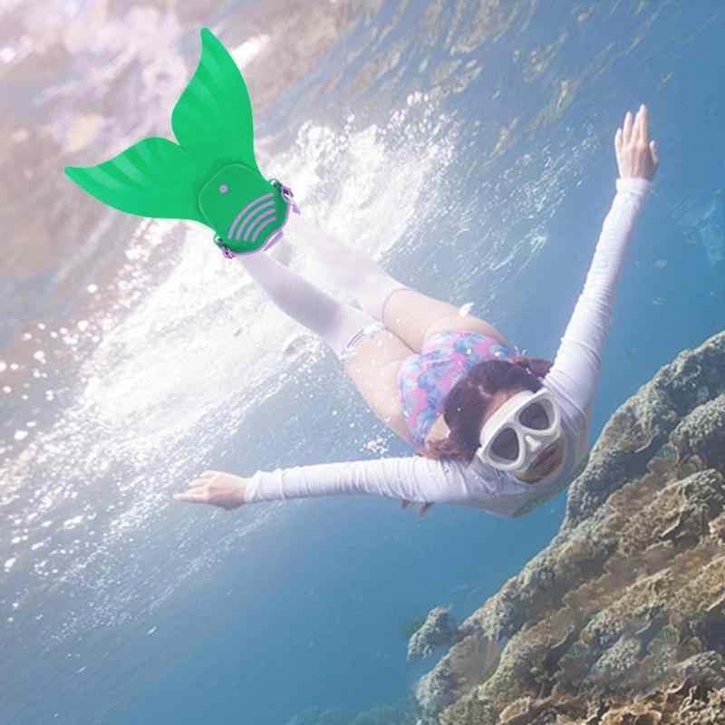 調整可能なかわいい子供水泳フィン子供 Monofin マーメイド足ひれダイビングスキューバダイビング水泳フィン足ひれ Monofin ウォータースポーツ Trai