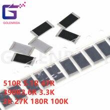 50PCS 2512 SMD Resistor 5% 510R 5.1R 47R 390R 3.6R 3.3K 2K 27K 180R 100K ohm