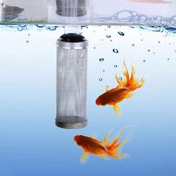 2 sztuk zestaw filtr dopływu akwarium filtr siatka ze stali nierdzewnej filtr netto straż Fish Tank filtr wlotowy filtr wlotowy tanie i dobre opinie ICOCO CN (pochodzenie) 68*25MM(S) 85*30CM(L) 12mm(S) 16mm(L) stainless steel plastic aquarium accessories 2 * Filter set