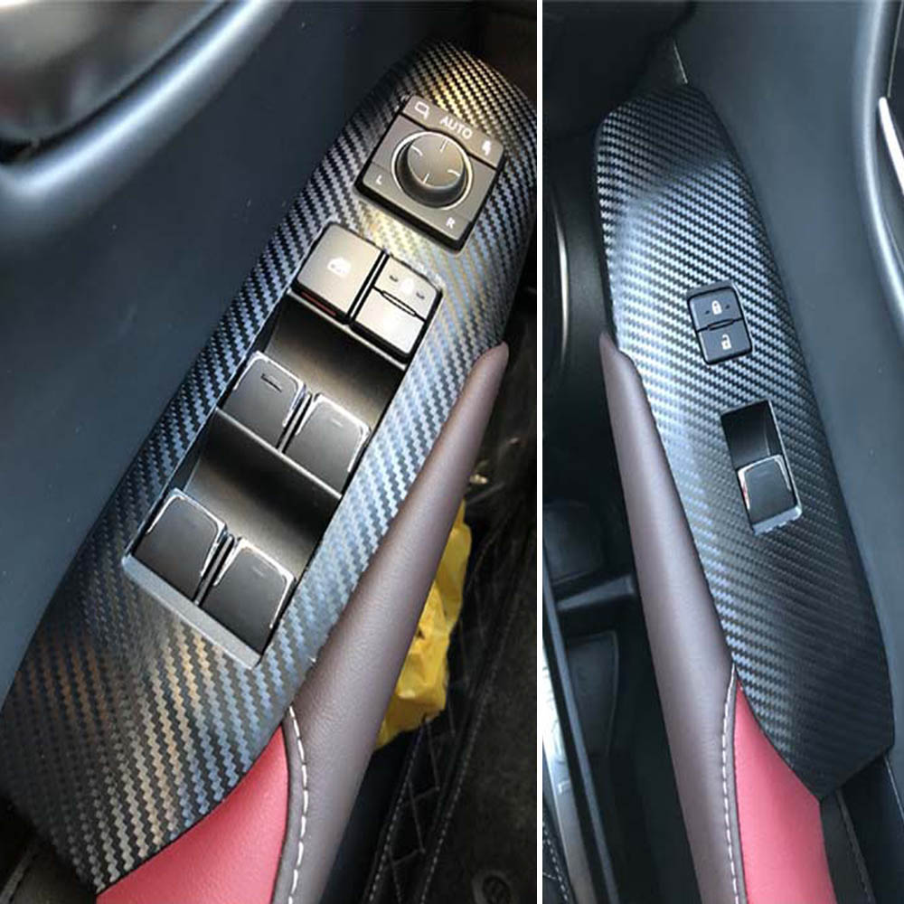 For Toyota Corolla 14-2017 Carbon Fiber Style Side Door Handle Decor Cover Trim