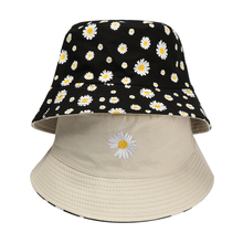 Bucket-Hat Fisherman-Cap Daisies Summer Foldable Double-Sided Fashion Women Cotton Casual