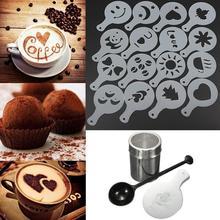 Chocolate Shaker Coffee-Accessories Duster Template Cappuccino Plastic 16pcs Spoon Measure