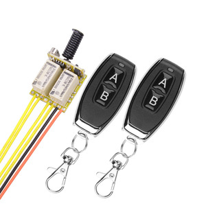 Mini RF 2CH Relay Wireless Remote Control Learning button DC 3.7V to 12V micro switch NO COM NC Transmitter Receiver