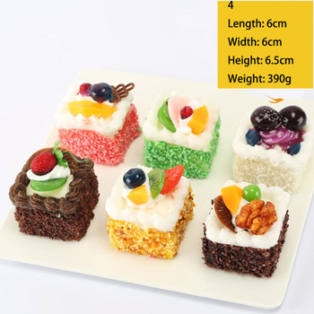 Artificial Bread Cake Donuts Ice Cream Model Pu Fake Foods Toys Dessert Shop Window Display Photography Prop Kids Kitchen