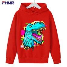 dinosaur print jurassic park hoodies boys clothes cap sweatshirts winter baby Clothing kids top girls Casual sport outfit coat