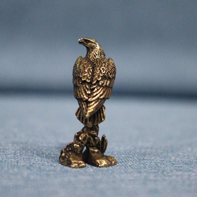 Handmade Brass Eagle Ornaments Accessories Vintage Pure Copper Bird Desk Decor Accessories Animal Home Decoration Mini Figurines 4