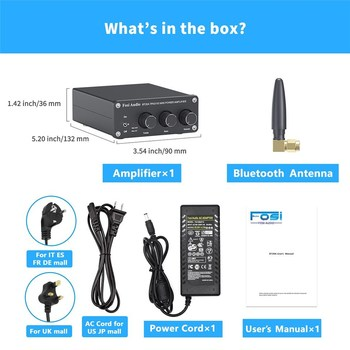 Fosi Audio BT20A Bluetooth Sound Power Amplifier   6