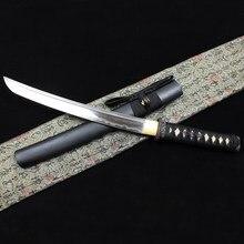 Tanto Short knife Burnting blade Hand grinding Handmade Sharp Japanese Samurai Katana Cold weapon Made in China