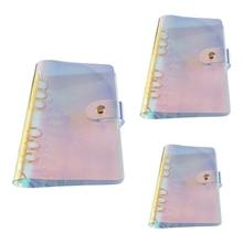 6 Holes PVC Loose Leaf Binder Notebook Notepad Sketchbook Business Journal Agenda Stationery School Office Supplies