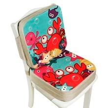 Cushion Seat Dining-Chair Chair-Pad Adjustable Children Heighten Cartoon 2pcs/Set Hard