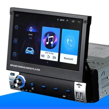 Radio Multimedia con Bluetooth para coche, Radio con reproductor estéreo, DVD, CD, compatible con MP3, WMA, WAV, Aux, entrada