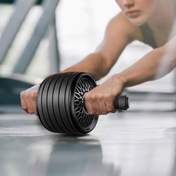 Kółko rolkowe Ab wytrzymały sprzęt treningowy Ab do treningu rdzeniowego sprzęt do ćwiczeń Ab używany jako sprzęt treningowy w domu tanie i dobre opinie Other Dwukrotnie kółkach Ramiona Exercise Equipment Comprehensive Fitness Exercise Wheel roller Power Wheel Support Red Black