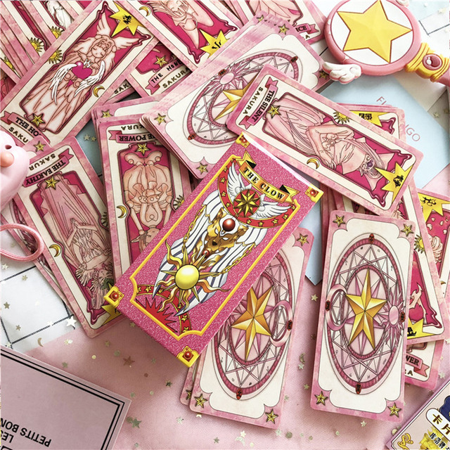 1 set Anime Cardcaptor Sakura Clow Card cosplay prop KINOMOTO SAKURA Card captor Sakura Cards Tarot 3