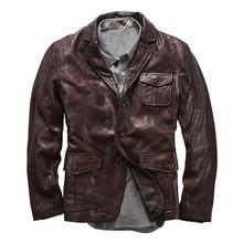 AL0708 Read Description! Asian size goat leather jacket genu