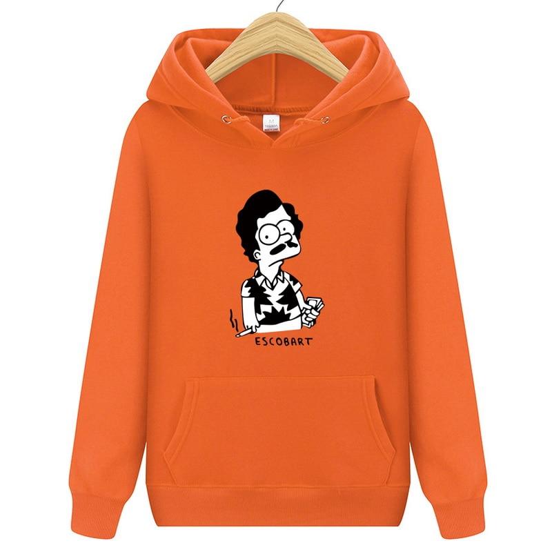 Hoodies ESCOBART Simpson Mens Hoodie Women Sweatshirts Oversized Black Autumn Winter Hip Hop Men Hoodies Sweatshirt
