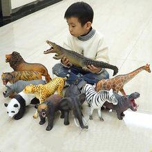 Nova áfrica leão zebra panda urso crocodilo animal figura collectible brinquedos animais selvagens figuras de ação crianças brinquedos de cola macia