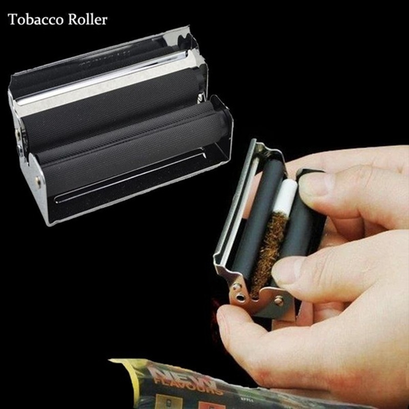 70mm Tobacco Rolling Machine Manual Blunt Fast Cigar Tobacco Roller Injector Maker Metal Cigarette Joint For Raw Rolling Paper