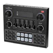 Звуковая микшерная консоль v9 внешняя звуковая карта для телефона
