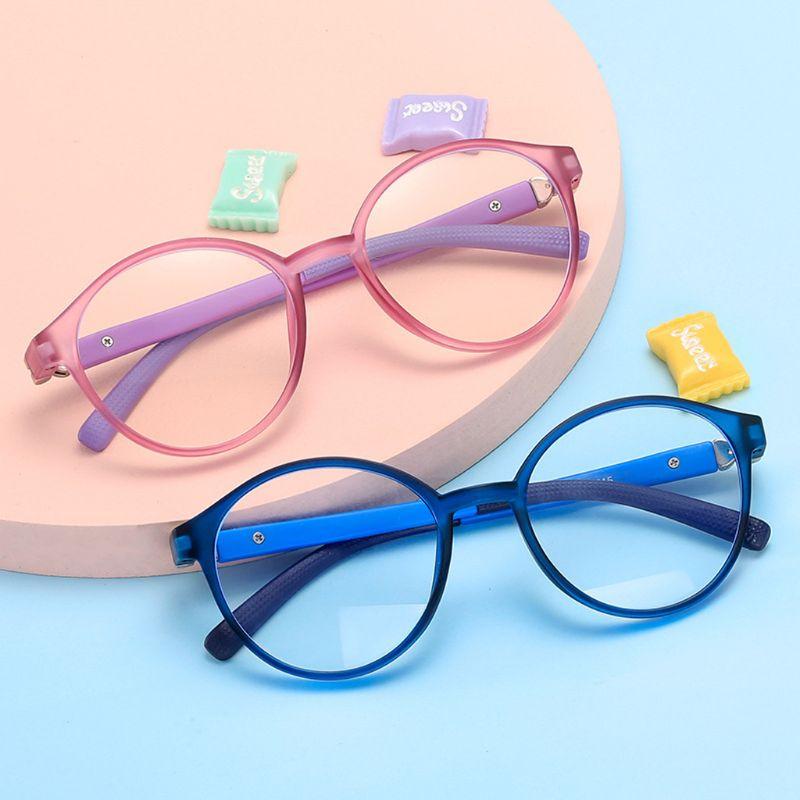 Очки с защитой от синего света, модные детские очки, очки с прозрачными линзами, компьютерные детские очки