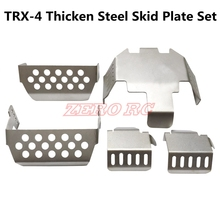 스테인레스 스틸 프론트 리어 범퍼 로어 + 액슬 + 기어 박스 마운트 보호 traxxas TRX 4 t4 용 스키드 플레이트