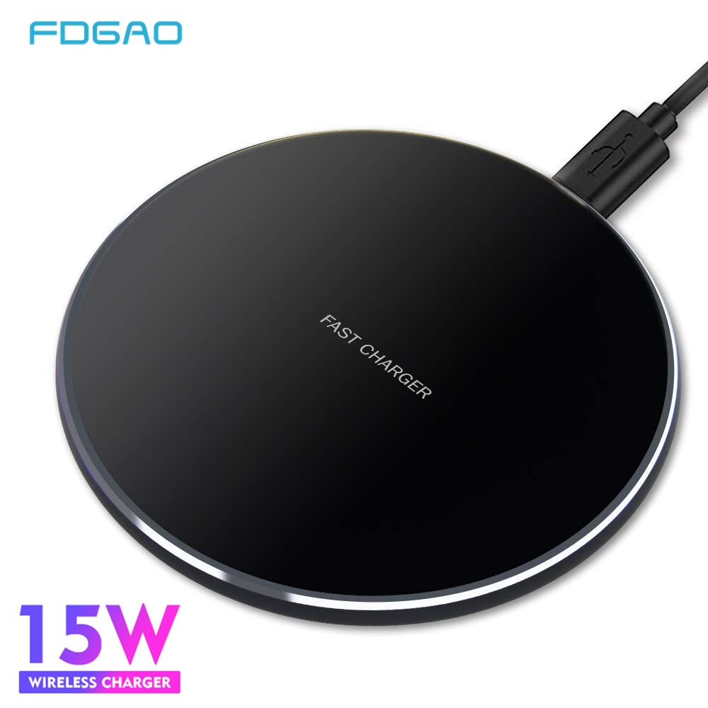 FDGAO 15W QI Quick Charging Wireless Fast Charger Usb C QC 3.0 10W Mobile Phone Station For IPhone 11 XS XR X 8 Samsung S10 S9