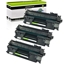 GREENCYCLE 3 Pack CE505A 05A Toner Cartridge for HP LaserJet P2035 P2035n P2055dn Printer replacement parts for hp laserjet p2055dn network formatter board at retail