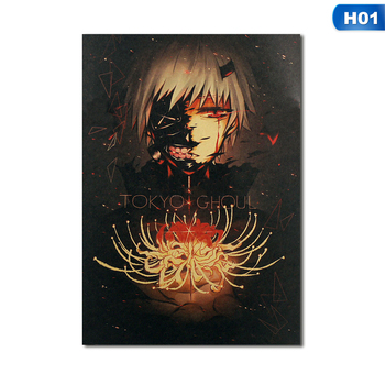 2021 Tokyo Ghoul Kraft Paper Poster Decoration Painting Posters Aesthetic Vintage Prints Living Room Bar Wall Stickers Bedroom image