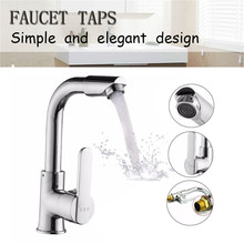 Kitchen Faucet Bathroom-Basin Rotating-Handle Chrome Cold Single-Hole for 1PC