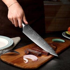 Image 5 - XITUO 5 PCS Küche Messer Sets Japanischen Damaskus Stahl Muster Kochmesser Santoku Hackmesser Schäl Slicing Utility Fisch Werkzeug Geschenk
