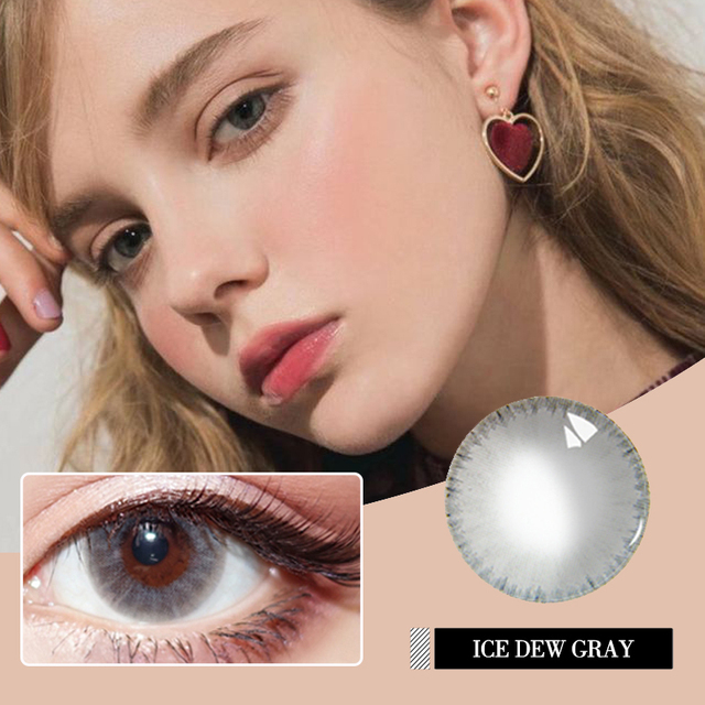 Diopter myopia Beautiful Pupil Color Contact Lenses Prescription Female Path 14.5mm Cute Multicolor Party Gift  Girl Cosplay