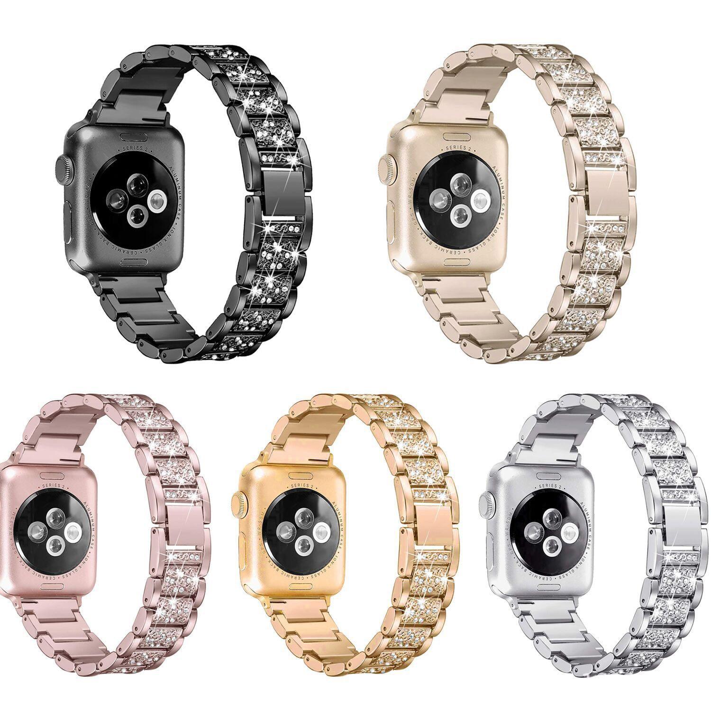 Ремешок для часов для Apple Watch ремешок 40 мм 44 мм 38 мм 42 мм Женский бриллиантовый ремешок для iWatch серии 5 4 3 2 браслет из нержавеющей стали