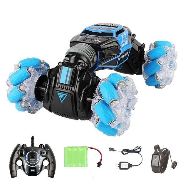 4WD samochód kaskaderski zdalnie sterowany zegarek sterowanie gest indukcyjny odkształcalny elektryczny RC samochód do driftu transformator samochody zabawkowe dla dzieci z oświetleniem LED