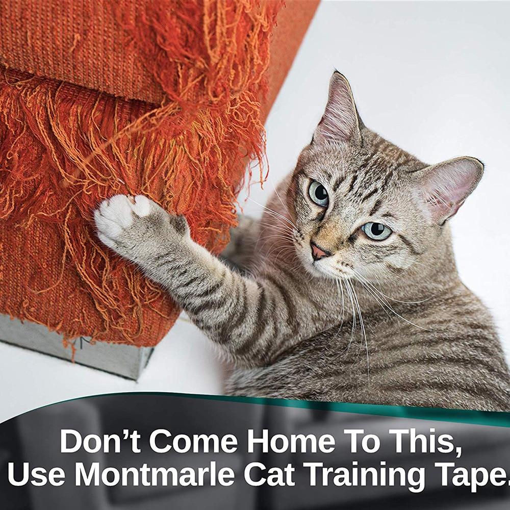 SUPREPET Anti Scratch Cat Training Tape Scratch Guard Mat Furniture and Leather Scratch Guard Protector Tape for Pets in Furniture Scratchers from Home Garden